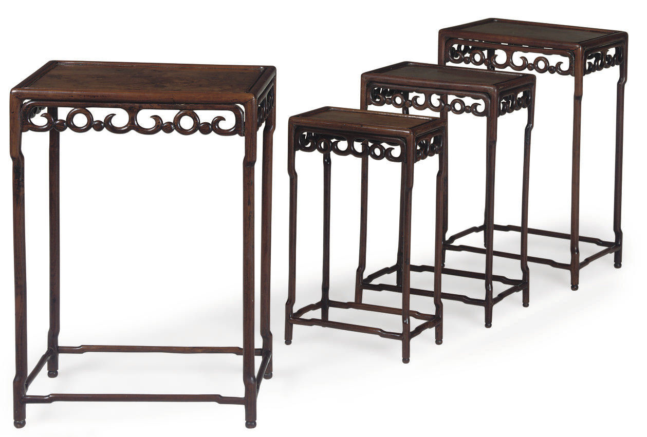 A SET OF CHINESE ROSEWOOD GRAD