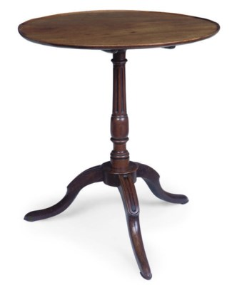 A FRENCH MAHOGANY TRIPOD TABLE