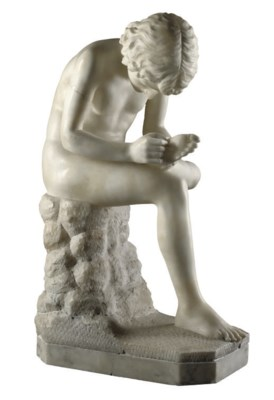 AN ITALIAN ALABASTER FIGURE OF