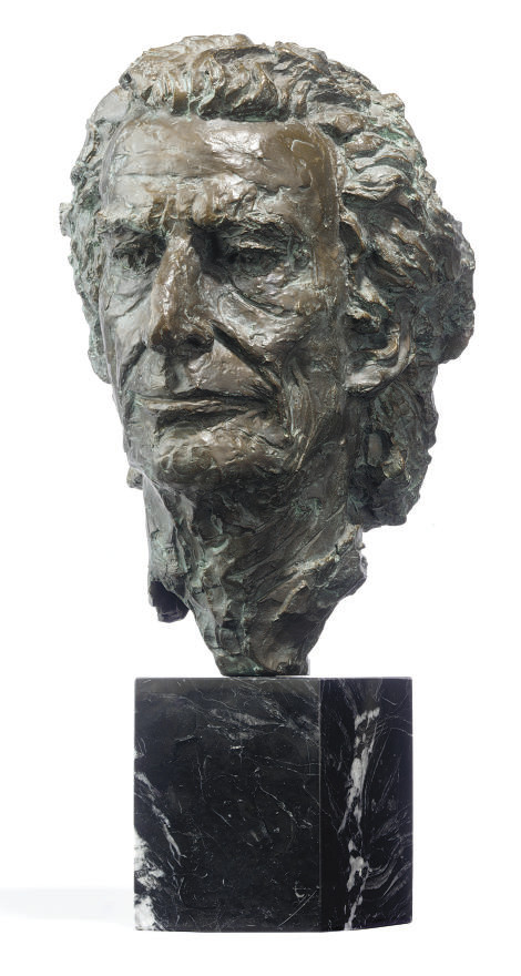 A DUTCH BRONZE BUST OF HARRY M