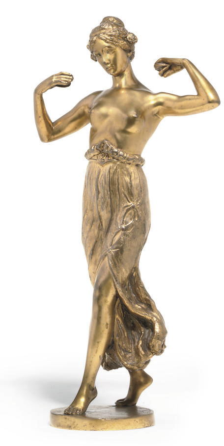 A VALENTIN GILT-BRONZE FIGURE