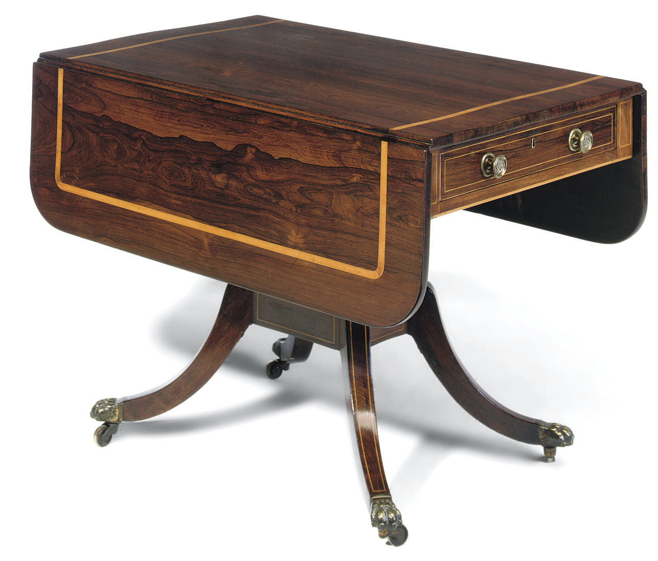 A REGENCY ROSEWOOD AND SYCAMOR