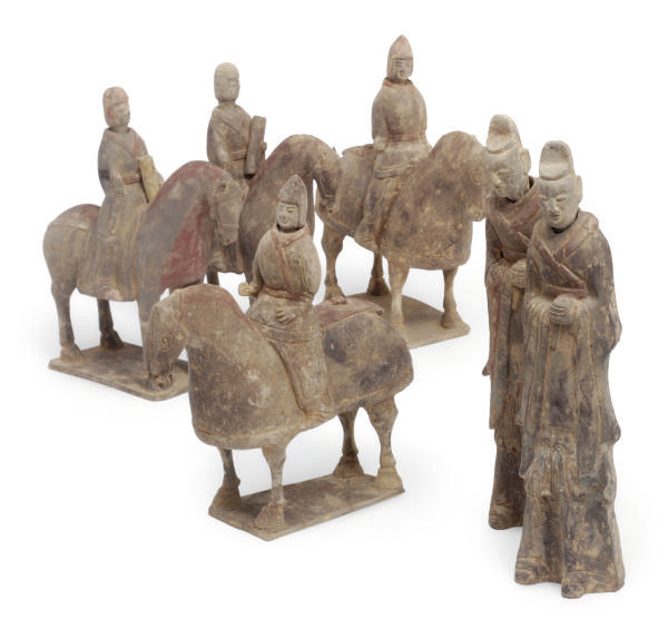 Four Chinese pottery equestria