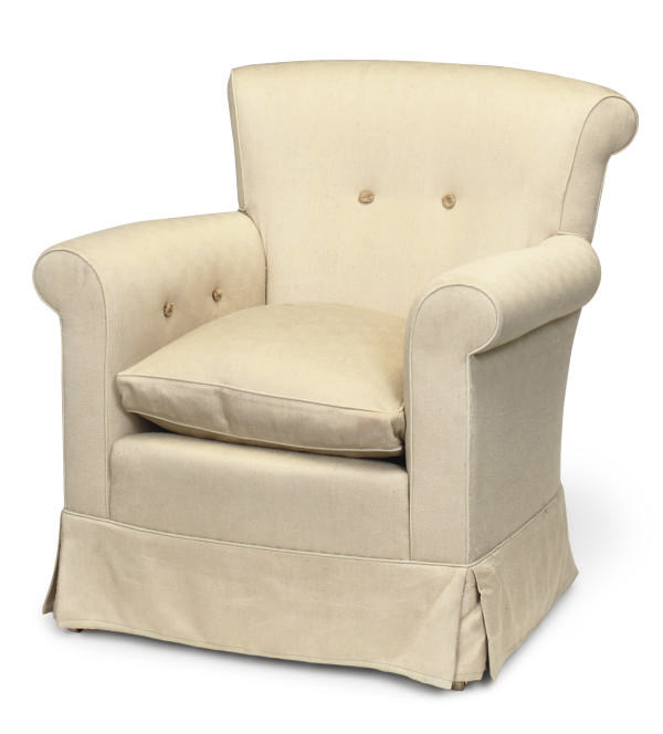 A YELLOW TUBCHAIR