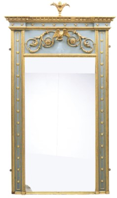 A GILTWOOD AND GESSO PAINTED P