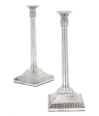 A PAIR OF GEORGE III SILVER CL