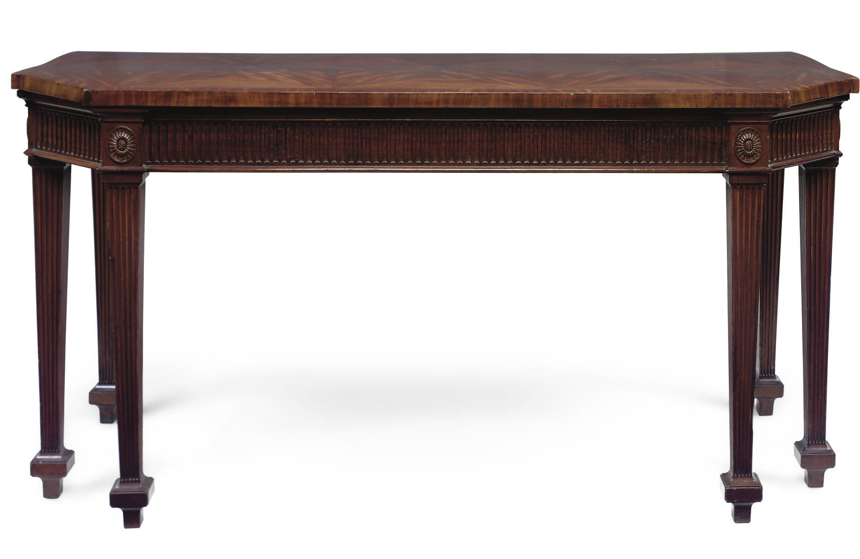 A MAHOGANY SERVING TABLE