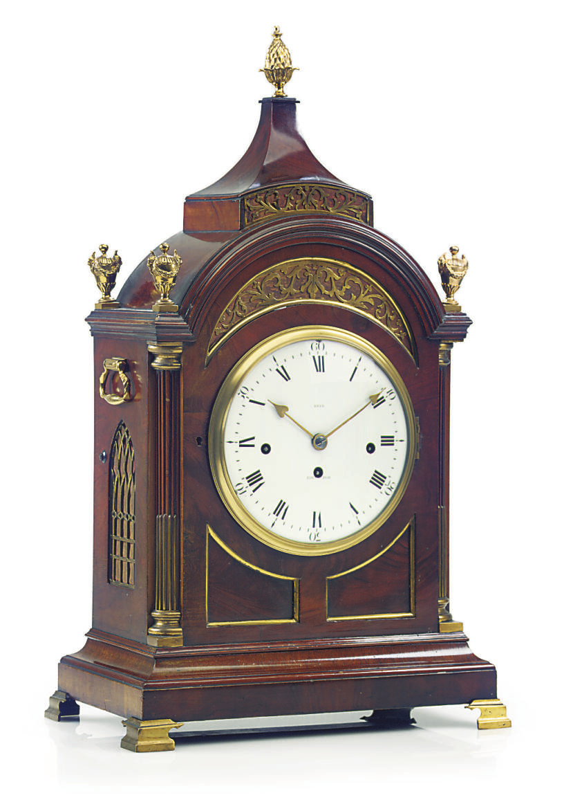 A Scottish mahogany and brass-