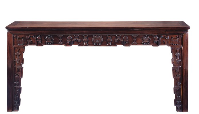 A CHINESE ROSEWOOD ALTAR TABLE