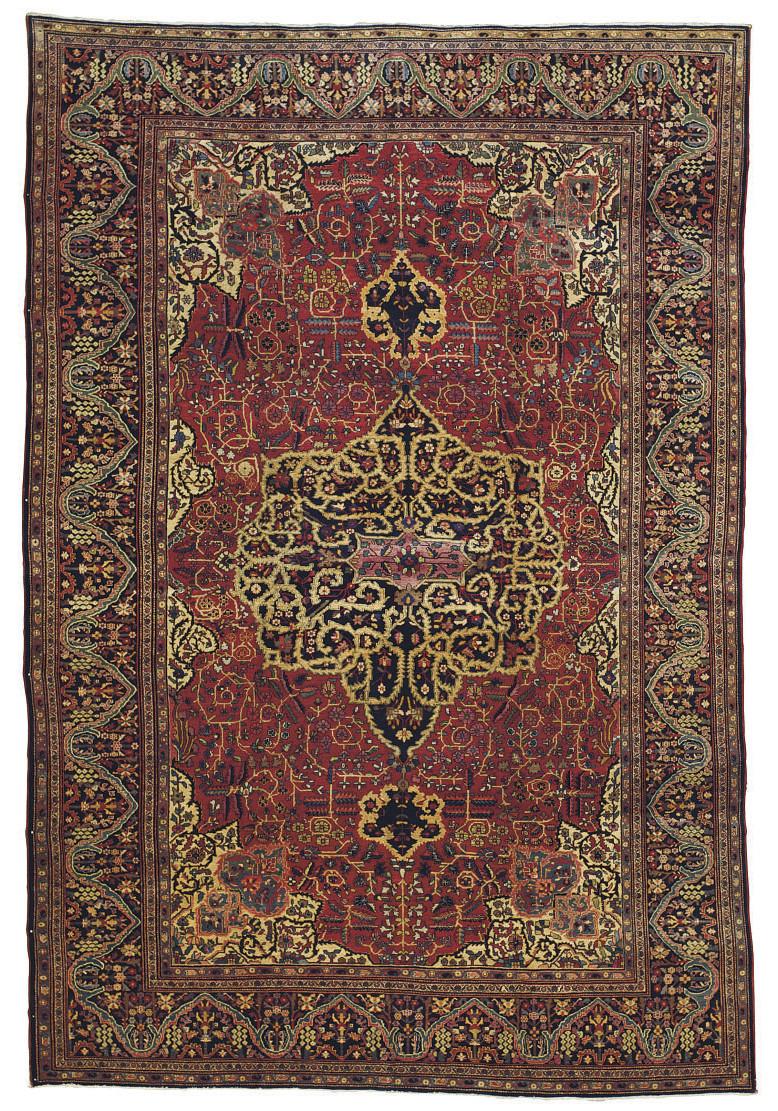 A fine Sarouk-Feraghan carpet,