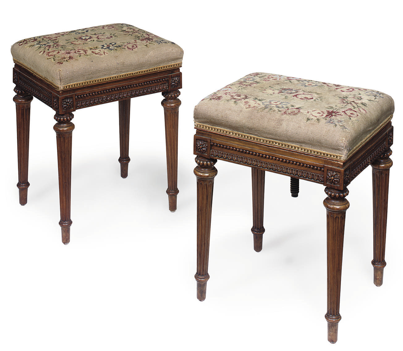 A PAIR OF MID-VICTORIAN WALNUT