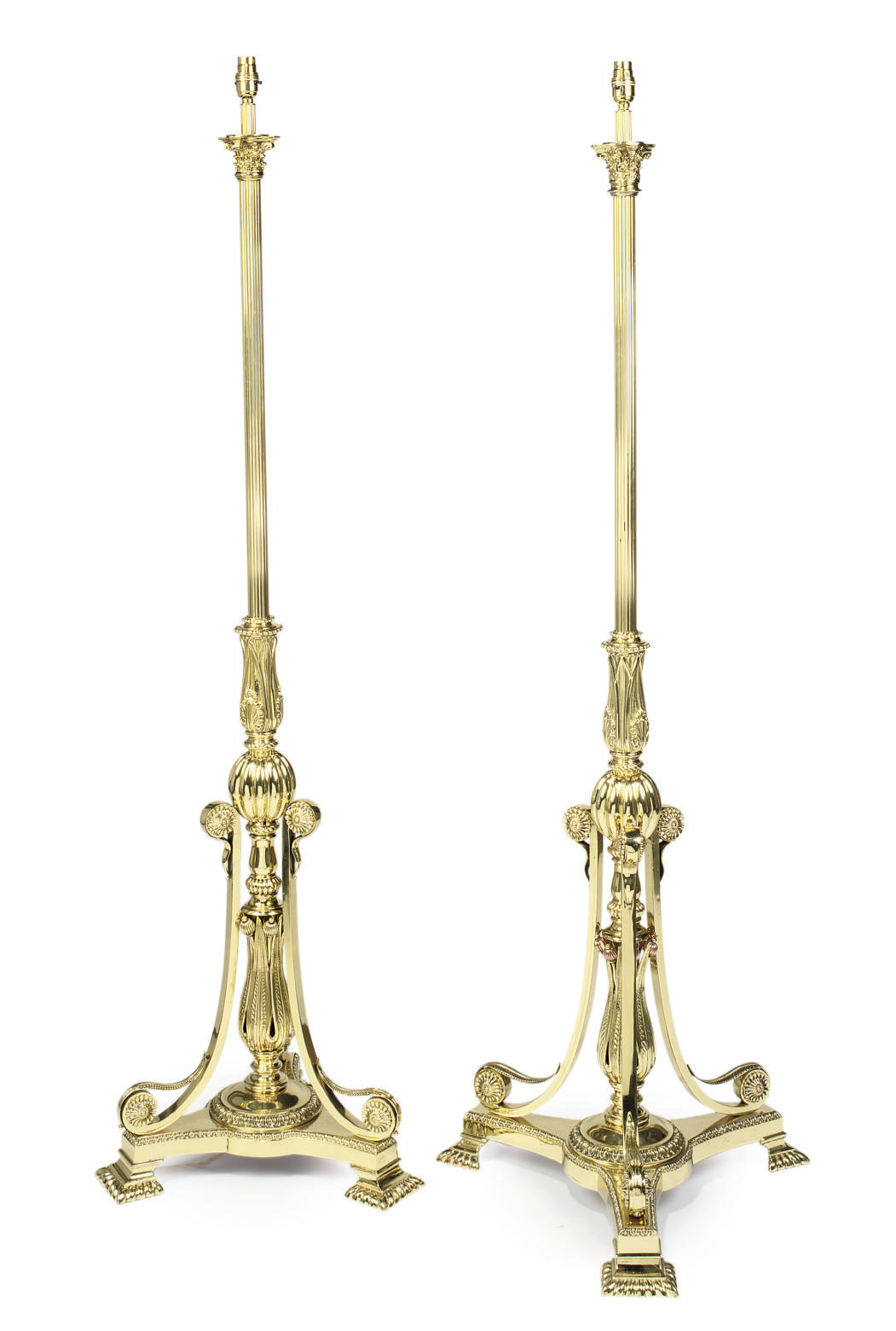 A PAIR OF LATE VICTORIAN BRASS