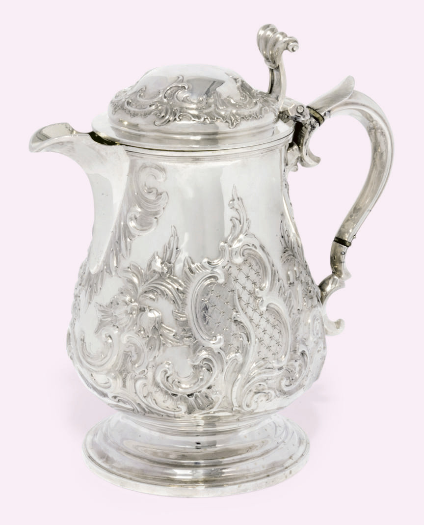 AN EARLY VICTORIAN SILVER BEER