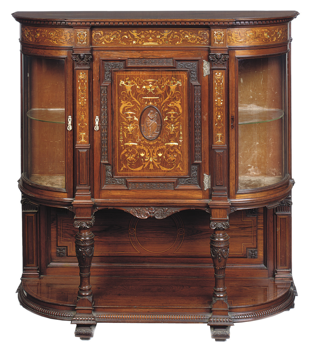 A LATE VICTORIAN ROSEWOOD AND
