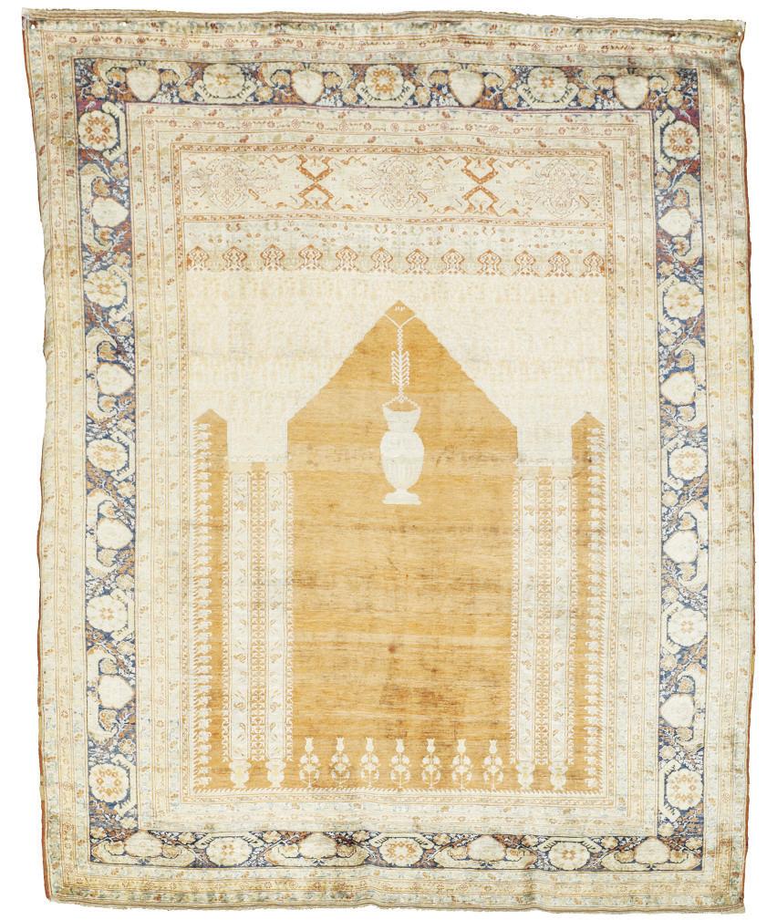 A very fine silk Tabriz prayer