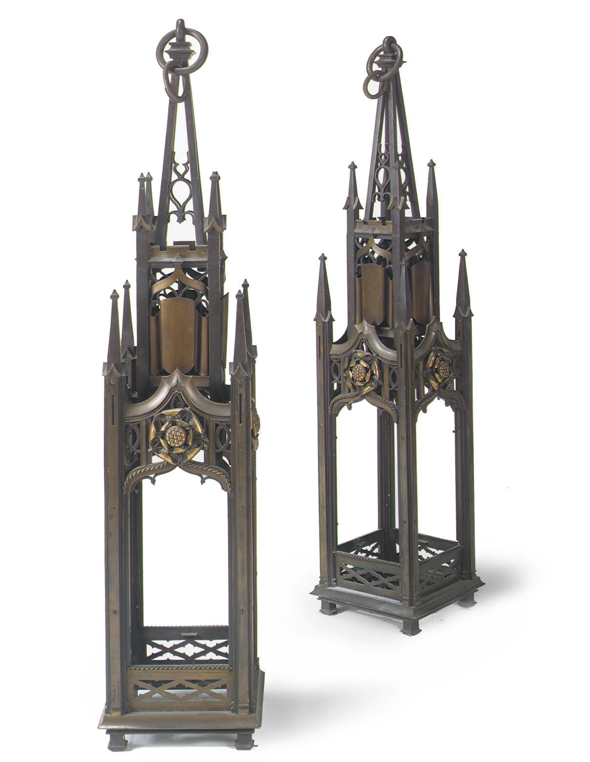 A PAIR OF LARGE VICTORIAN BRON