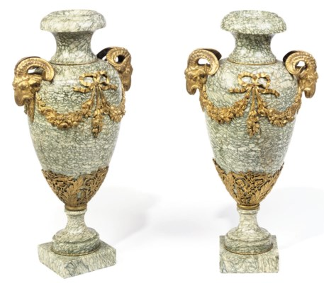 A PAIR OF LARGE FRENCH GILT-BR