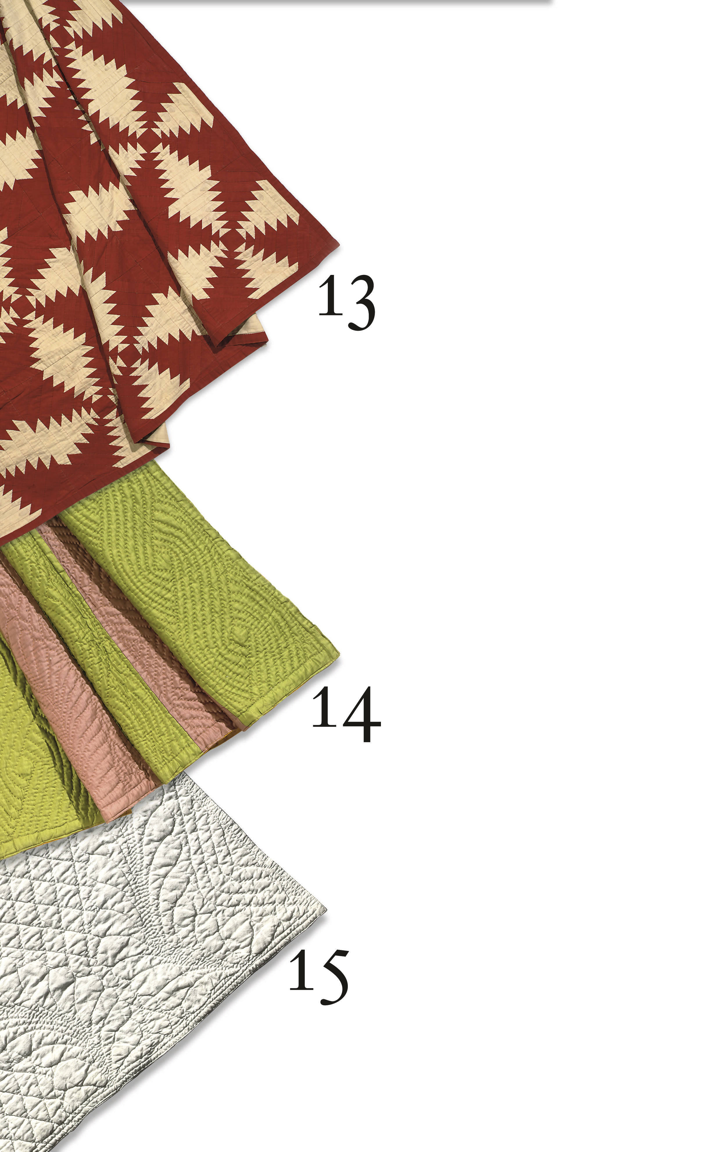 TWO FINE WHOLECLOTH QUILTS