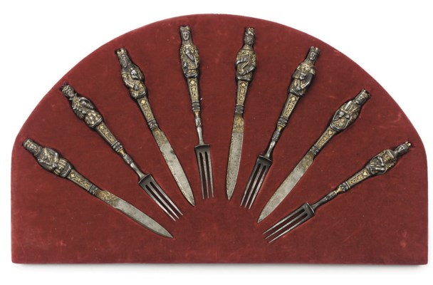A SET OF EIGHT SPANISH OR ITAL