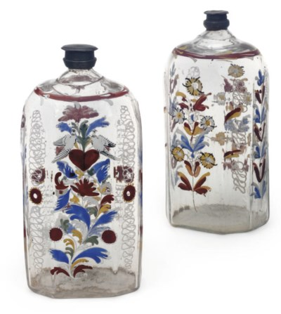 TWO CONTINENTAL ENAMELLED CLEA