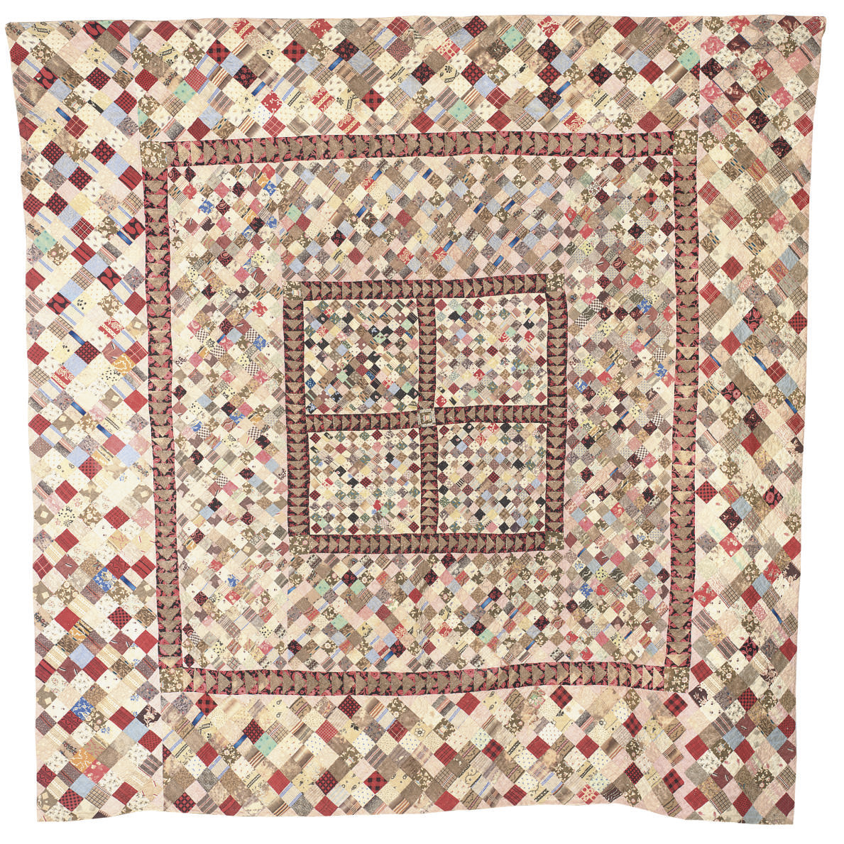 A FINE ENGLISH FRAME QUILT