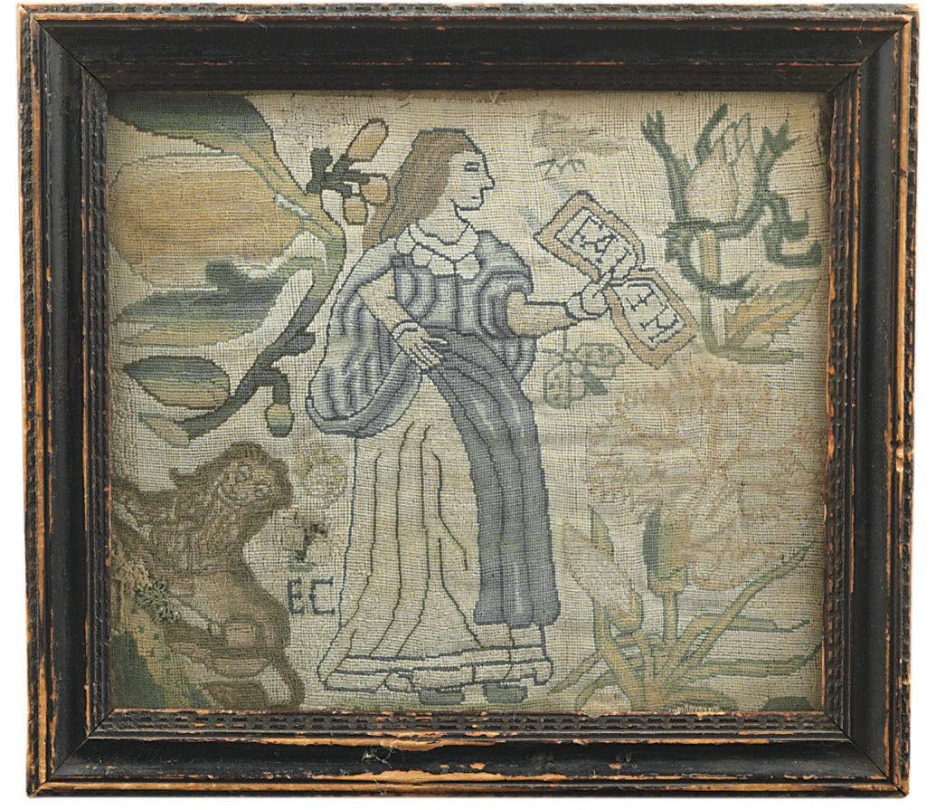 AN EMBROIDERED PICTURE