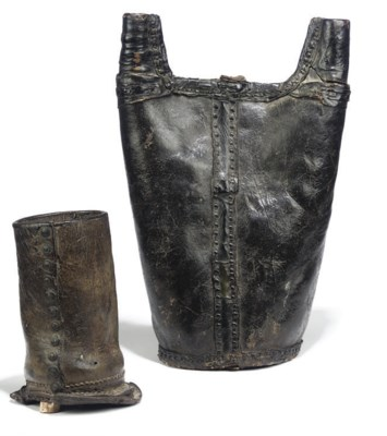 AN ENGLISH LEATHER FLASK