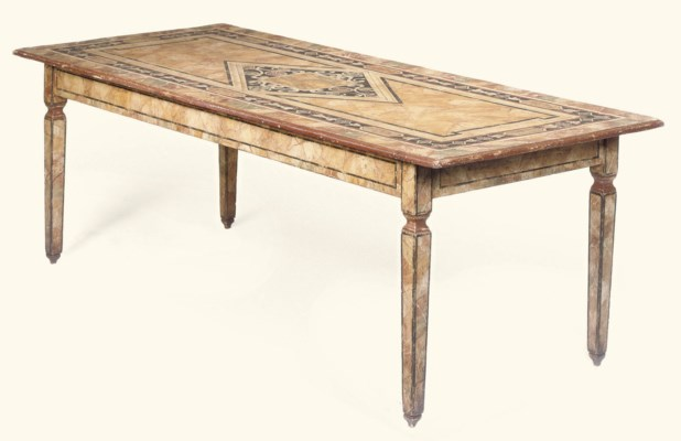 A LARGE ITALIAN PAINTED TABLE