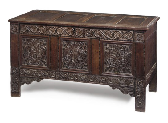 A NORTH COUNTRY OAK CHEST