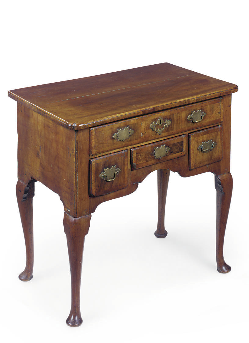 AN ENGLISH WALNUT LOWBOY