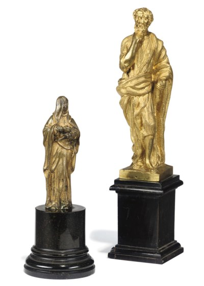 A NORTH ITALIAN GILT-BRONZE ST