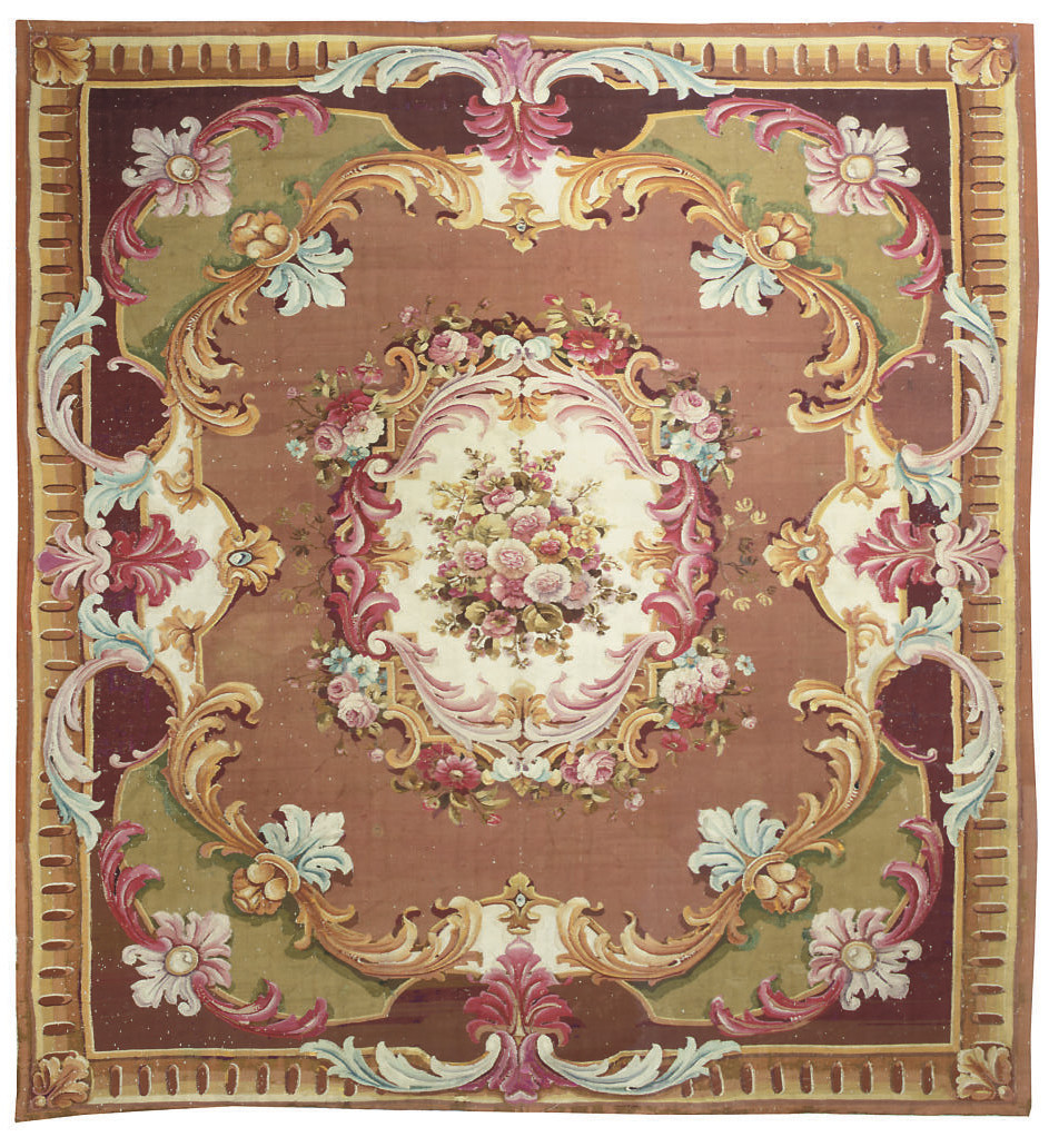 A LARGE AUBUSSON STYLE HANGING