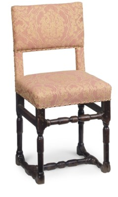 A FRENCH CHERRY AND UPHOLSTERE