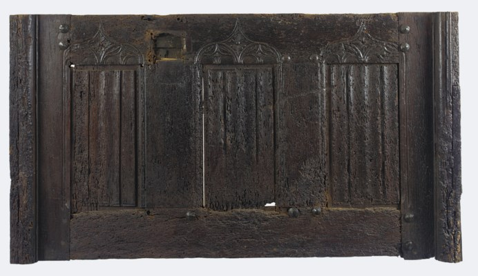 A SPANISH CHESTNUT CHEST-FRONT