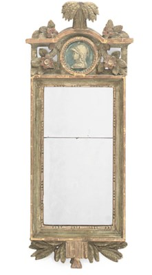 A GUSTAVIAN PAINTED AND GILTWO