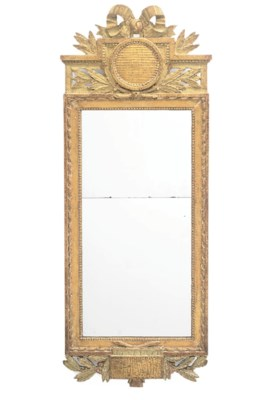 A GUSTAVIAN GILTWOOD AND PAINT