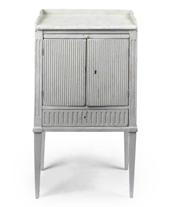 A GUSTAVIAN GREY PAINTED PINE