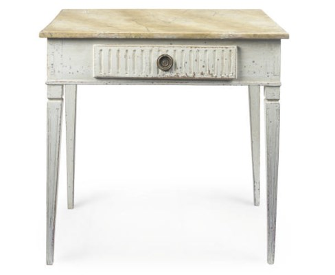 A GUSTAVIAN GREY PAINTED AND S