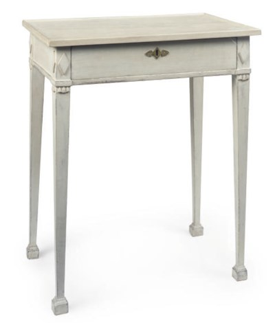 A GUSTAVIAN PAINTED WORK TABLE