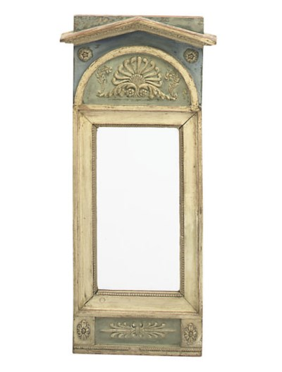 A GUSTAVIAN WHITE AND BLUE PAI