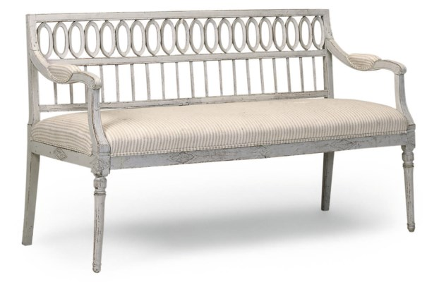 A GUSTAVIAN PAINTED SOFA