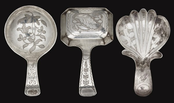A GROUP OF THREE SILVER CADDY