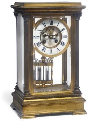A Victorian gilt-brass strikin