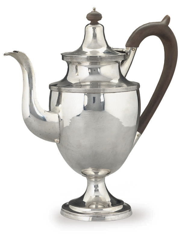 AN EARLY 19TH CENTURY SILVER C