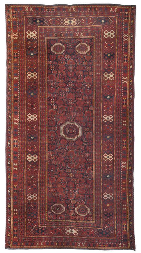 An antique Beshir small carpet