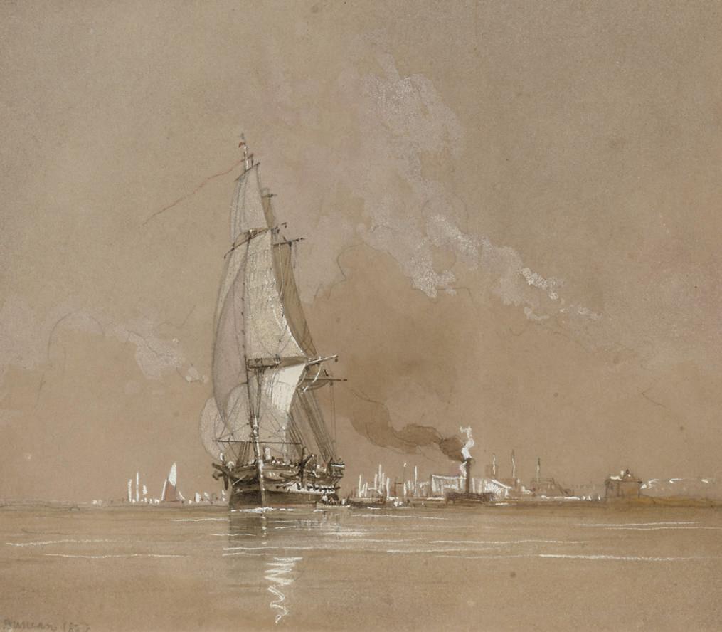 Shipping on an estuary