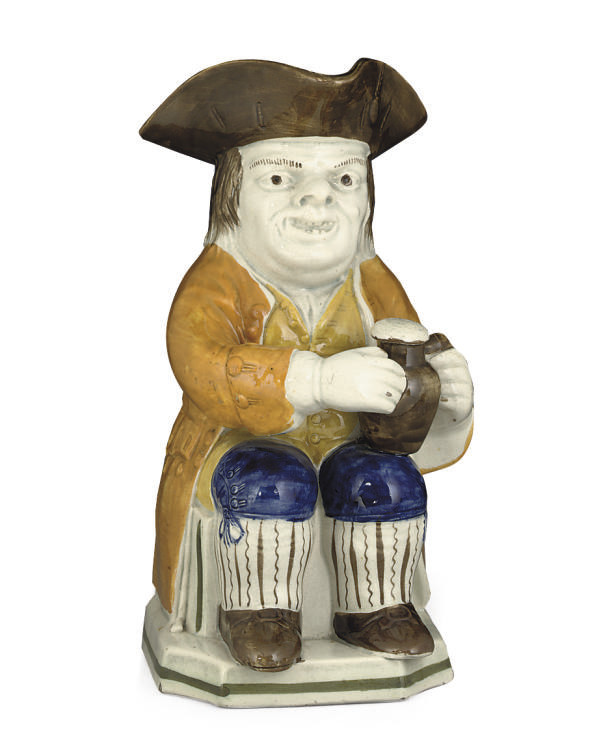 AN ENGLISH PRATTWARE TOBY-JUG
