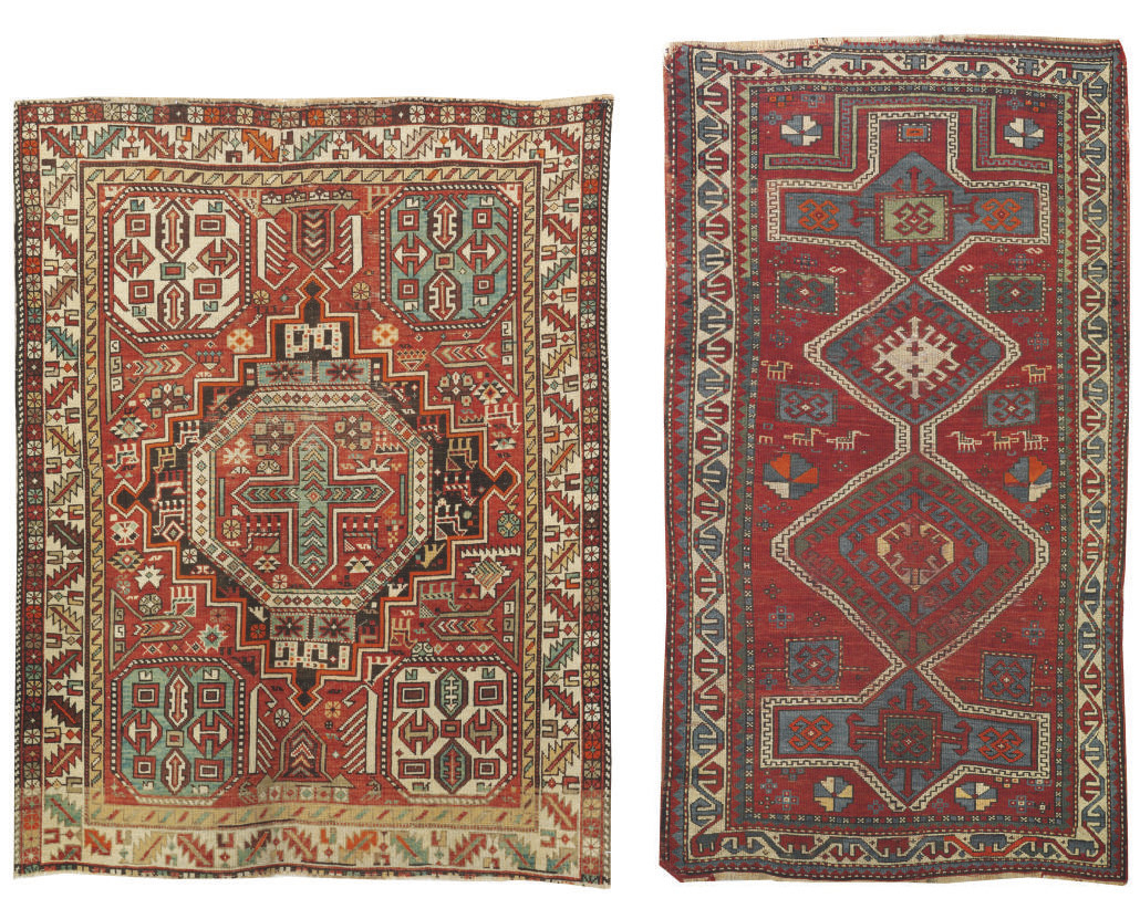 A Shirvan rug & Kazak prayer r