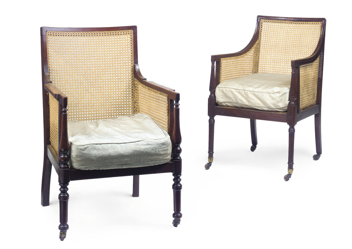 TWO VICTORIAN MAHOGANY AND CAN