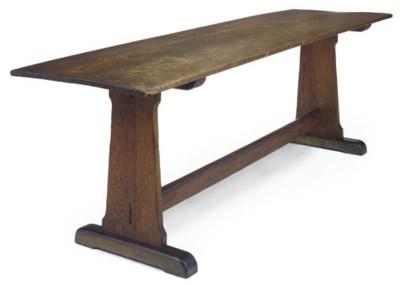 AN OAK REFECTORY TABLE